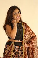 Lasya looks super cute in black choli Saree at Raja Meru Keka Press Meet ~  Exclusive 110.JPG