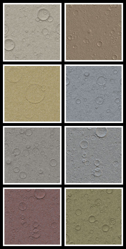 Craters seamless tiling patterns for Adobe Photoshop