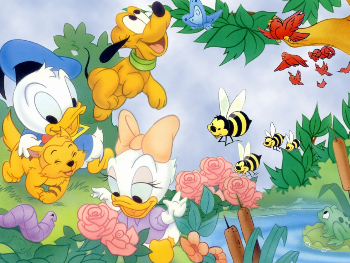 American animated cartoon characters the assian style - Baby animation wallpaper ...