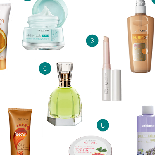 My Favourite Products from Oriflame Cosmetics