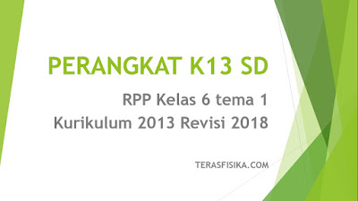 Download RPP Kelas 6 tema 1 Kurikulum 2013 Revisi 2018