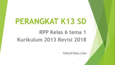 Download RPP Kelas 6 tema 1 Kurikulum 2013 Revisi 2018