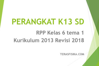 Download RPP SD Kelas 6 Tema 1 Kurikulum 2013 Revisi 2018