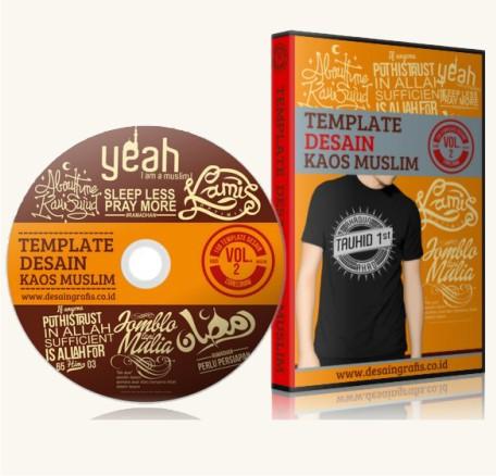 Paket 1 dvd Desain Kaos Distro Muslim Vol. 2- Rp. 150.000 .