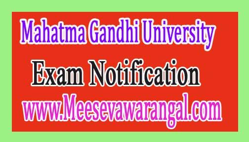 Mahatma Gandhi University MBA and MSC Pharmaceutical Chemistry I Sem Jan 2017 Notification