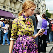 Elena Perminova with a hand fan ~ Fashion Hand  Fans
