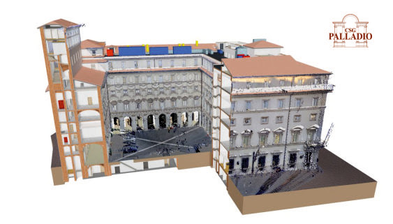 HERON point cloud inserted into Chigi Palace BIM model