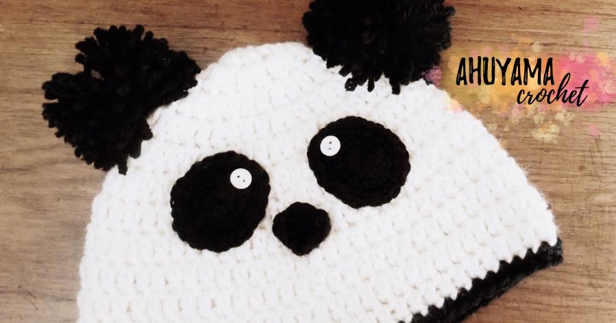 GORRO DE OSO PANDA A CROCHET - Ahuyama Crochet
