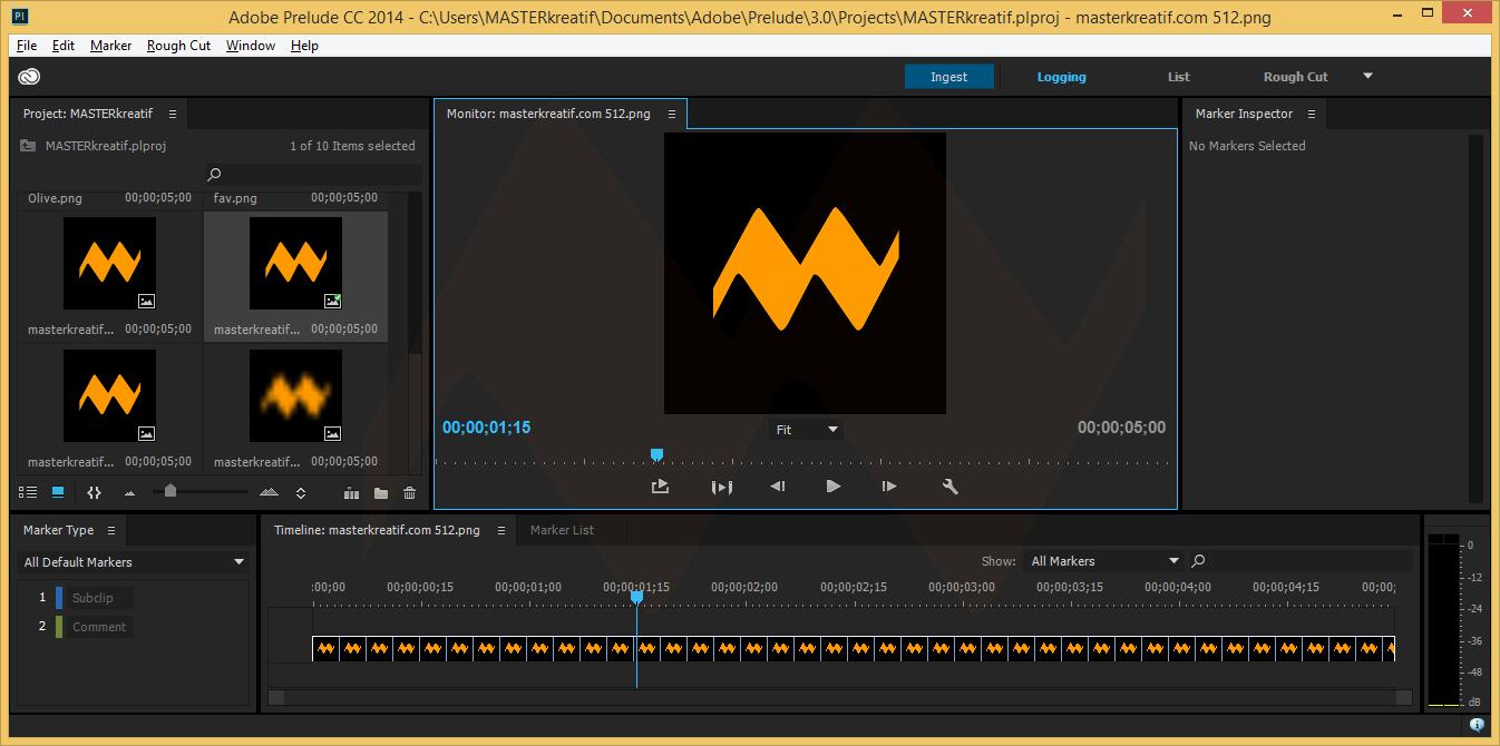 Adobe Prelude CC 2014