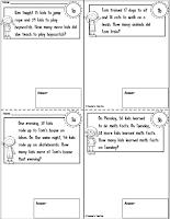 Free 2 Digit Word Problem Mini Workbook