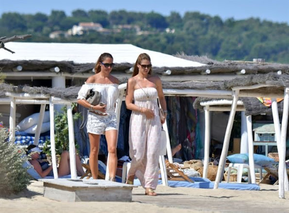 Princess Madeleine, Chris O'Neill, Princess Leonore, Prince Nicolas on holiday in Saint Tropez in France