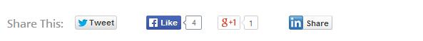Add social buttons below post title
