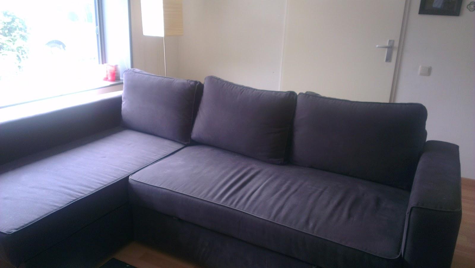 ikea couch sofa sectional manstad houzz sofas bed corner dark