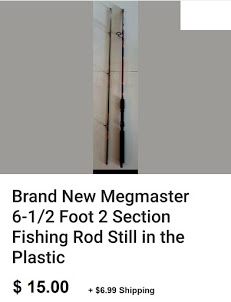 Megmaster 6-1/2 foot 2 Section Rod