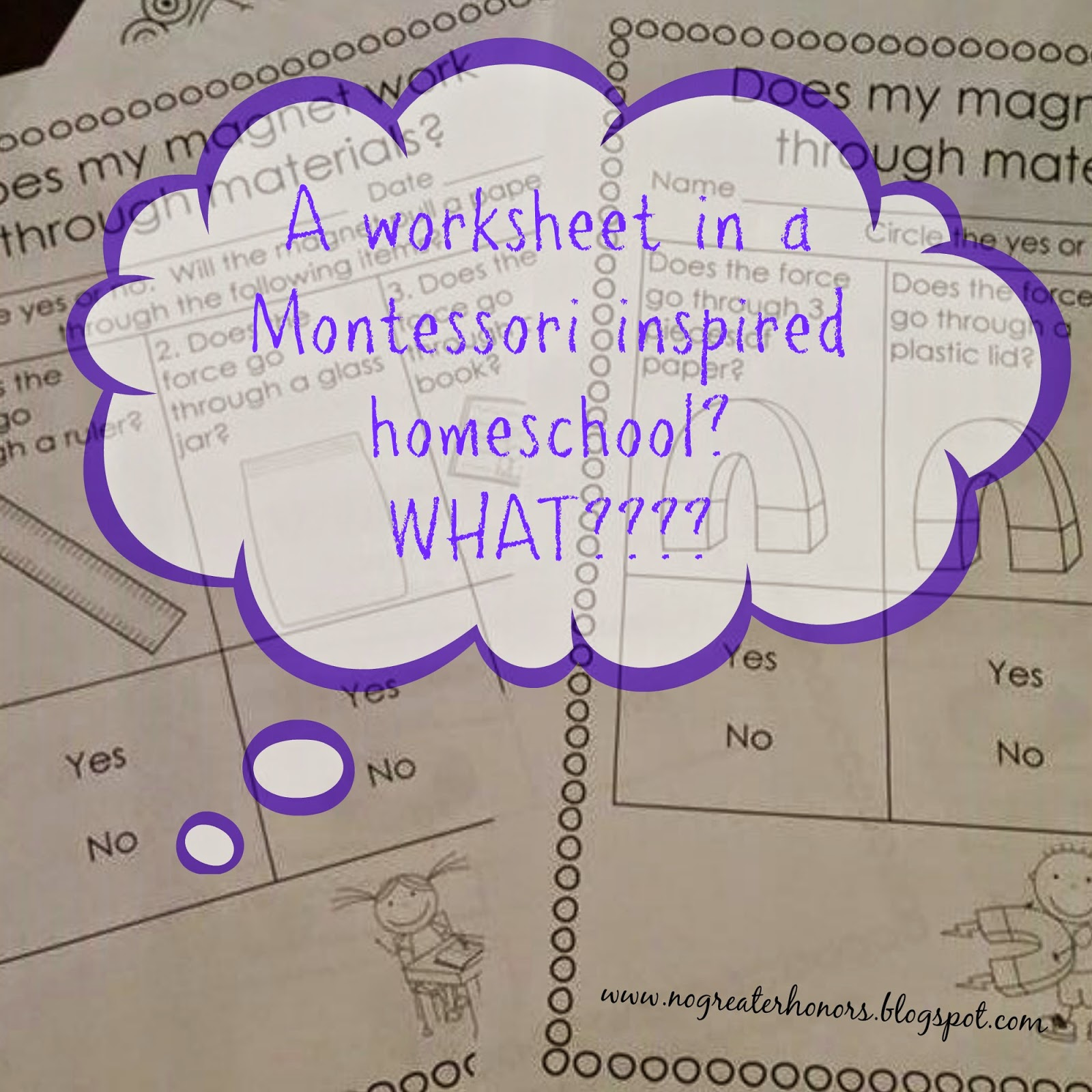 Magnetism And Using Worksheets In The Montessori Inspired