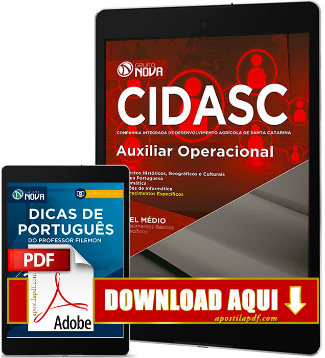 Apostila CIDASC 2017 PDF Download Auxiliar Operacional