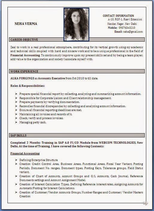 top resume templates for freshers