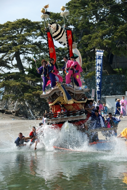 Spring Festival at Numashima Island, Minamiawaji City, Hyogo