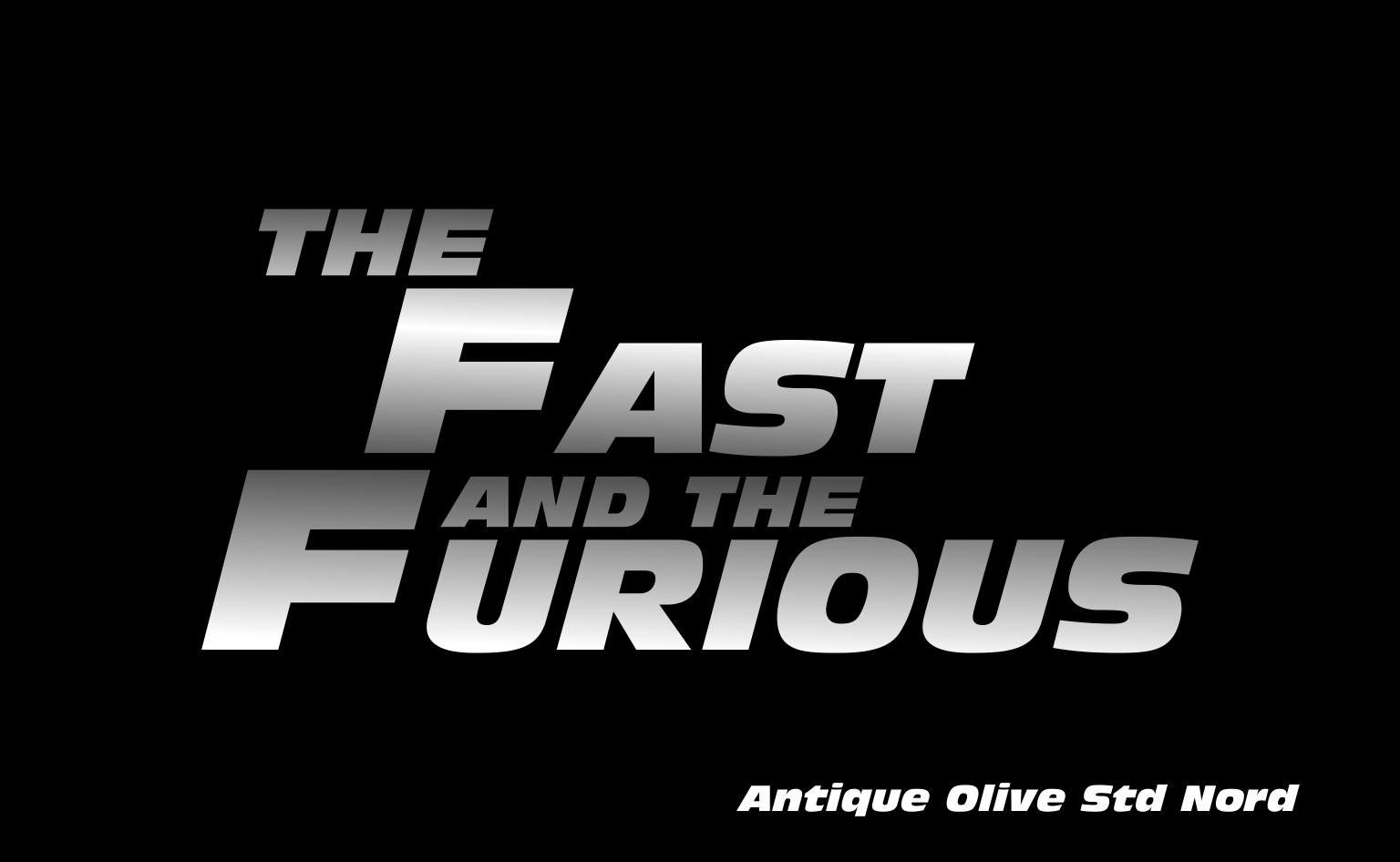 Namun karena font ini digunakan dalam film balap mobil terkenal the fast and the furious maka font ini pun langsung ikut populer