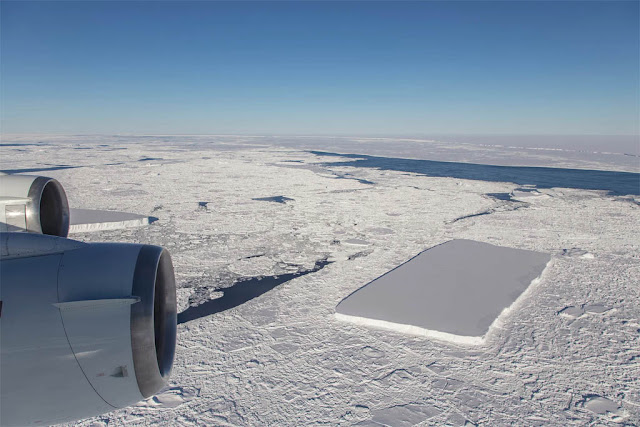 segundo iceberg retangular descoberto na Antartica