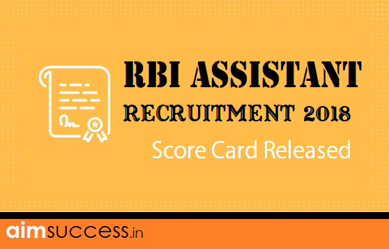 RBI Assistant Recruitment 2018 Score Card Released