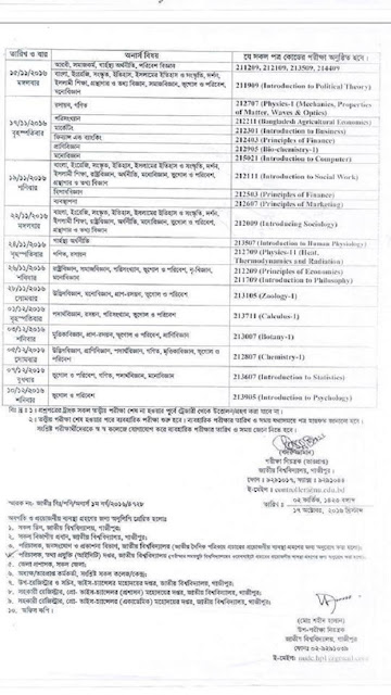 NU Honors 1st Year Exam Routine
