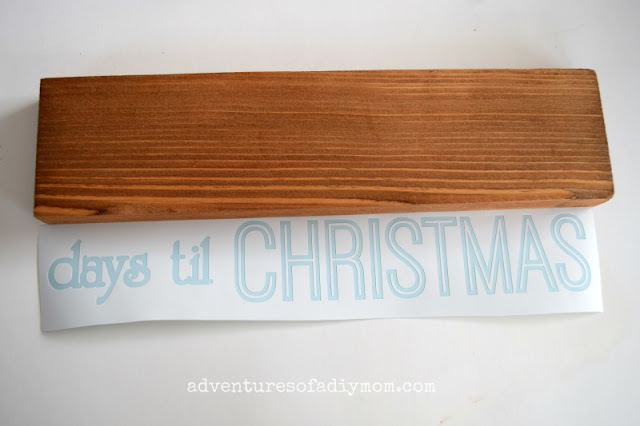wood block for Christmas countdown