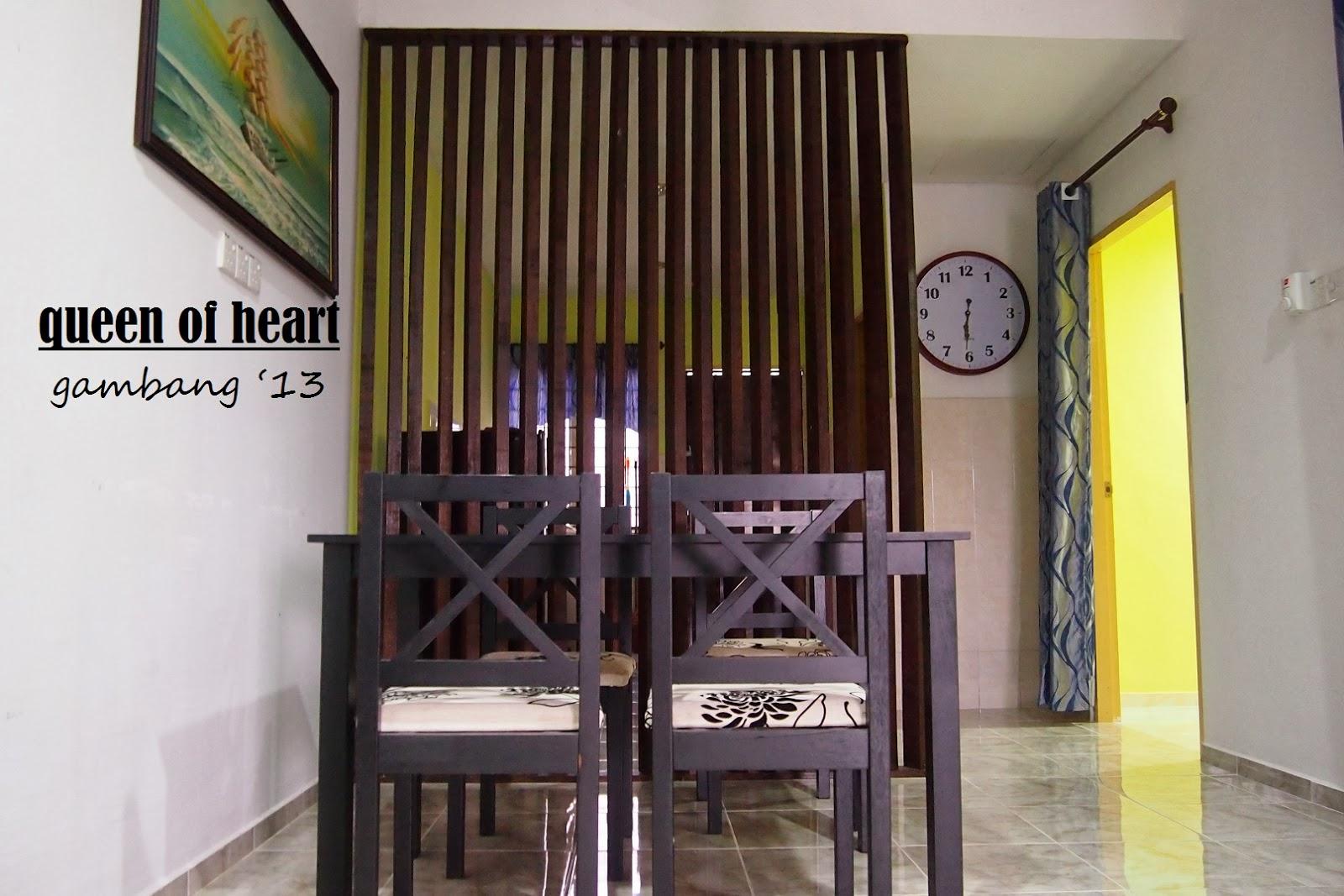 Ini Yang Menampn Dekorasi Nye Sangat Naik Bila Di Letn Penghadang Kayu Buatan Sendiri Tu Bagi Memisahkan Ruang Dapur Dan Tamu
