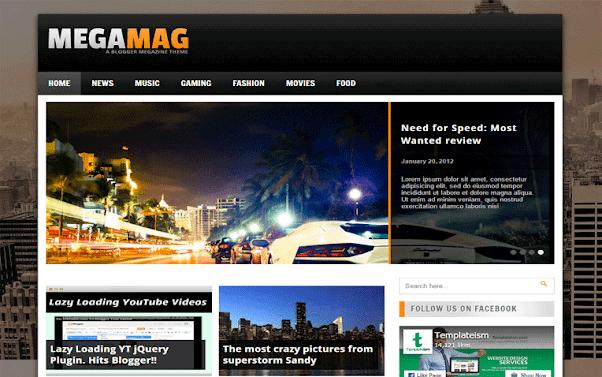 MegaMag Free Blogger Template