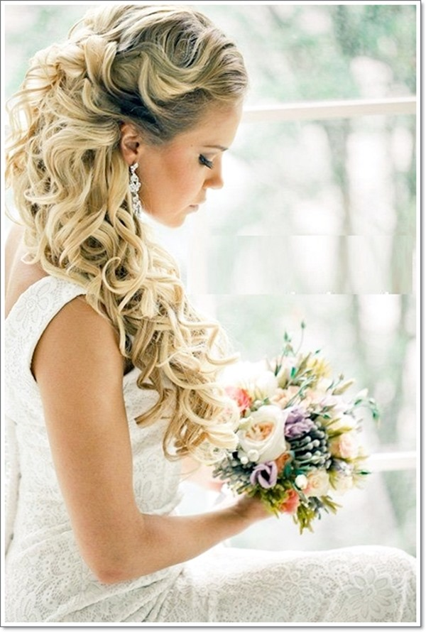 Brautfrisuren für lange Haare 2018