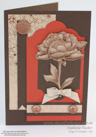 SU, You've Got This, Watercolouring, Copperising, Affectionately Yours, Layering, handmade card