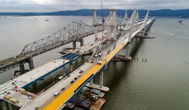 El nuevo puente Tappan Zee de Nueva York se abrirá al tráfico en agosto