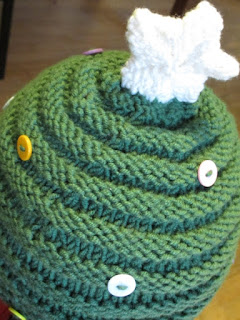 Christmas Tree Knitted Hat - Our Handmade Home