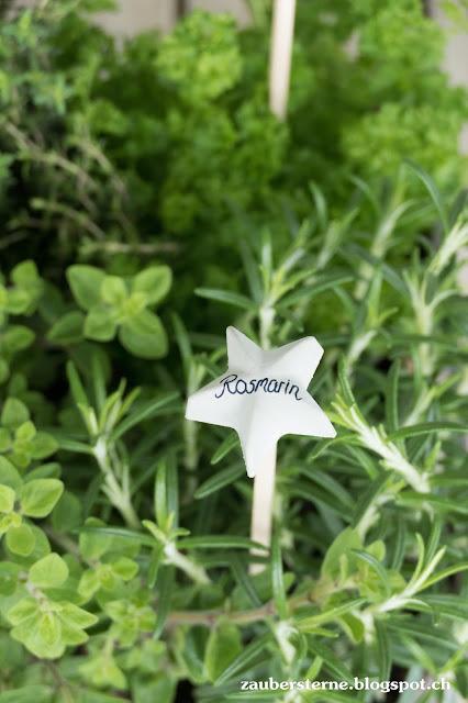 Betonsterne, Geschenkidee, Gartengeschenk, Kräutergarten