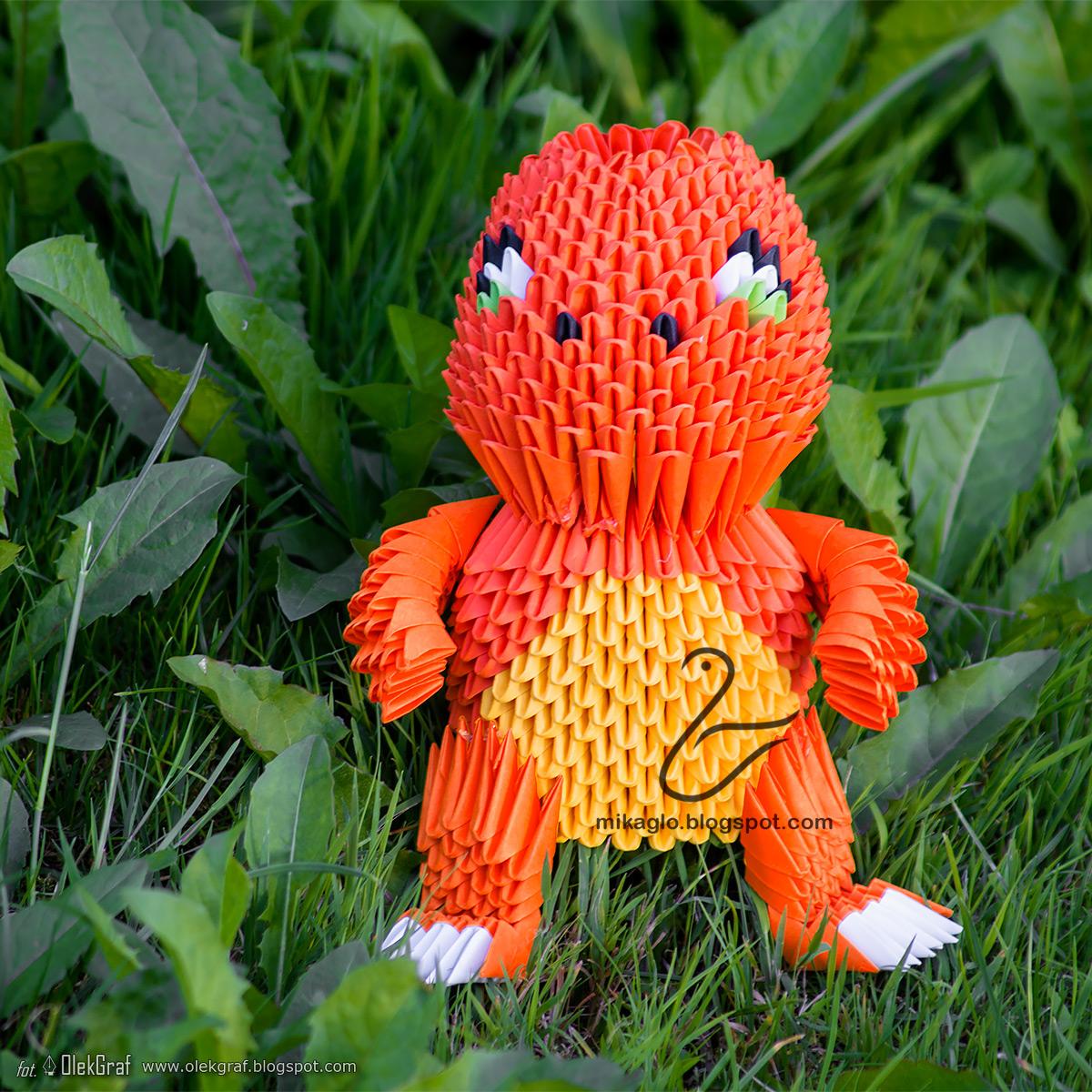 Origami 3d - mikaglo: 291. Pokemon Go - Charmander z ... - photo#25