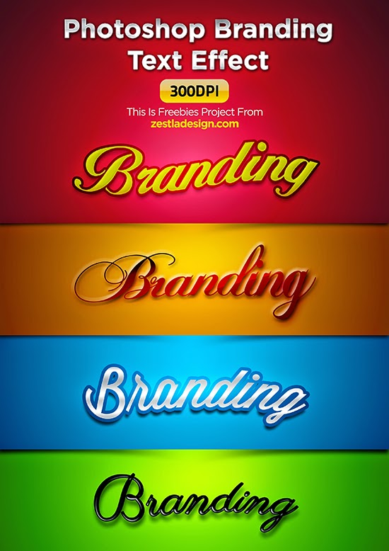 Text Effect Free PSD Files