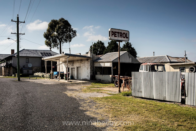 Old Petrol Station in Capertee, NSW Australian countryside