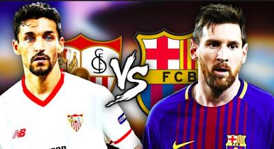 مشاهدة مباراة برشلونة واشبيلية اليوم بث حي مباشر جوال في الدوري الاسباني
