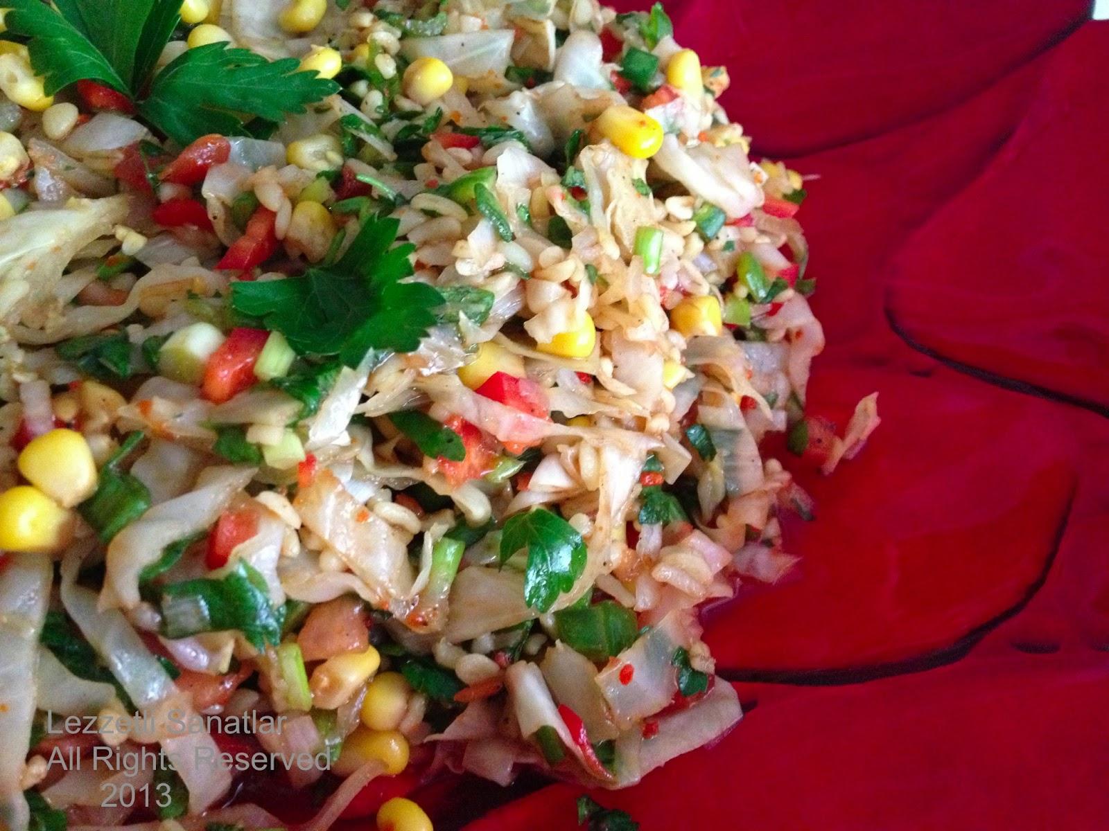 Her gün için lahana salatası