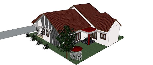 Model Rumah Minimalis Ukuran 15 x 14,5 m Kesan Besar dan Luas