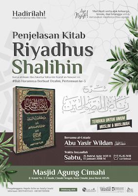 Kajian Masjid Agung Cimahi: Haramnya Berbuat Dzalim Pertemuan ke-3 (Kitab Riyadhus Shalihin)