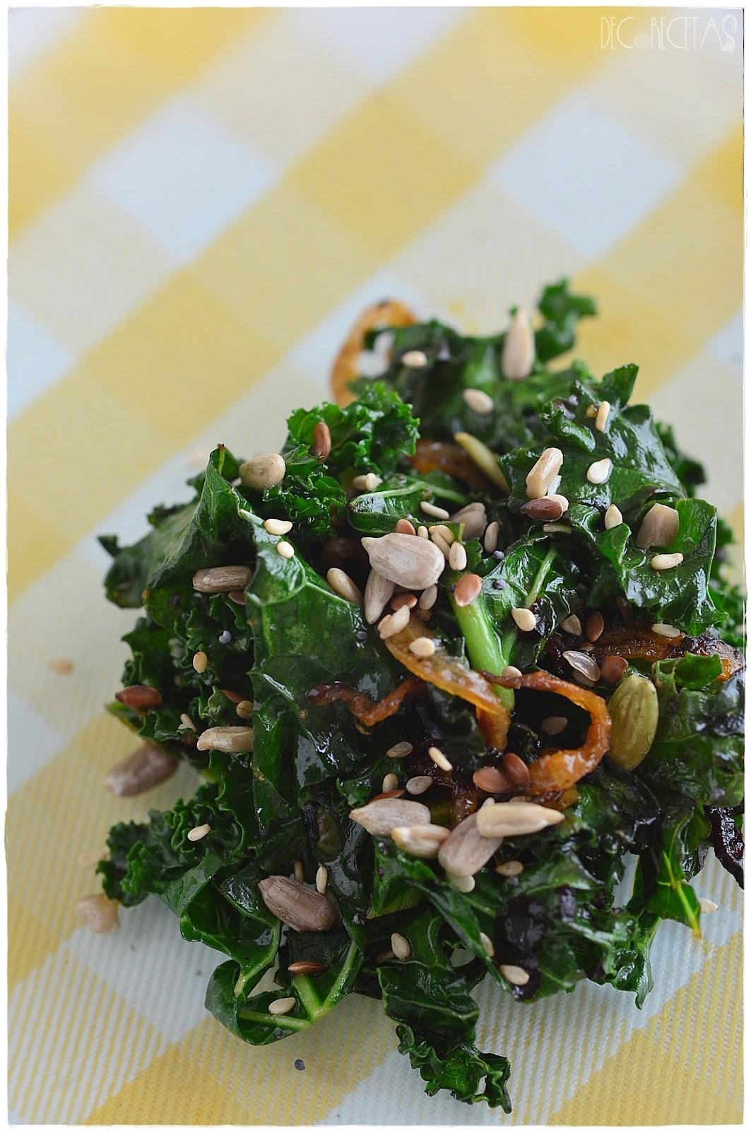 Kale salteada con semillas | DECORECETAS