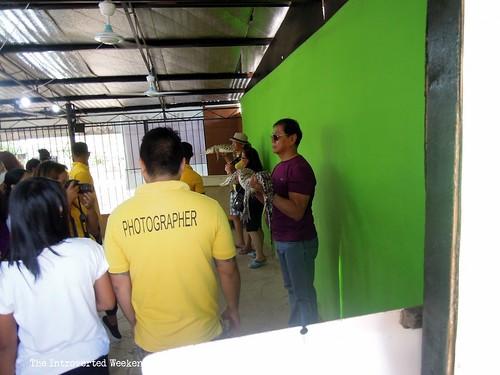 Puerto Princesa Travel Guide: guests having their souvenir photos taken with baby crocodiles