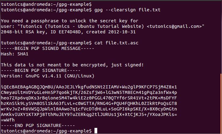 GPG Encryption Guide - Part 3 (Digital Signatures) - Tutonics