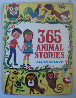 Vintage Children's Book: 365 Animal Stories in Colour