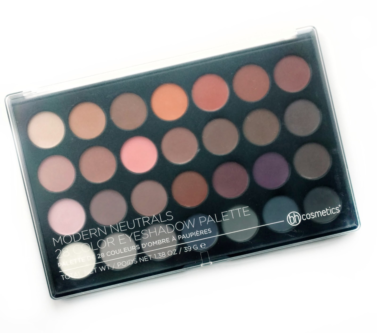 bh cosmetics modern neutrals 28 color eyeshadow palette