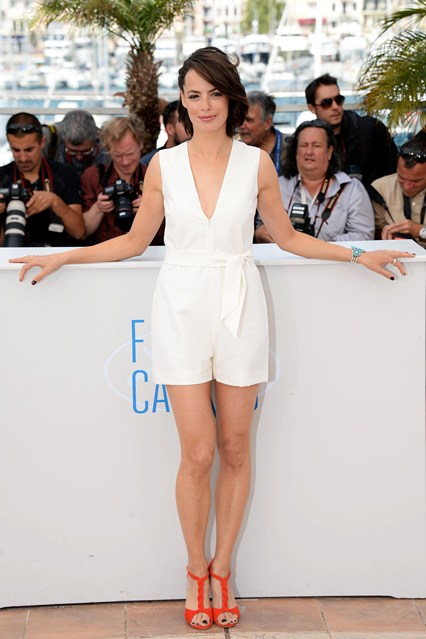 Bérénice Bejo in a white short jumpsuit at Cannes 2014
