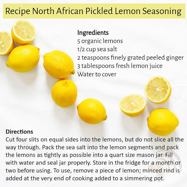 Recipe North African Pickled Lemon Seasoning