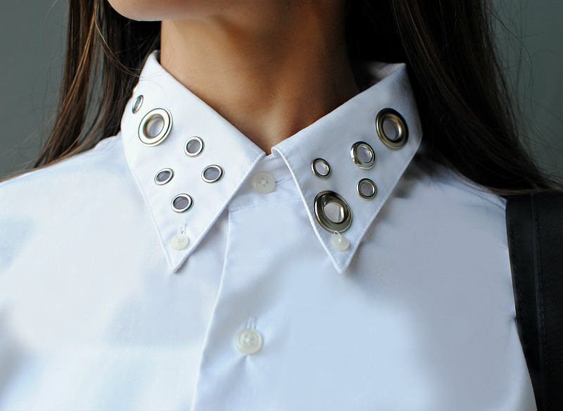 DIY Eyelet Embellished Collar