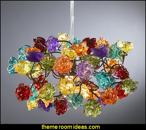 Colorful bouquet of roses  Chandelier